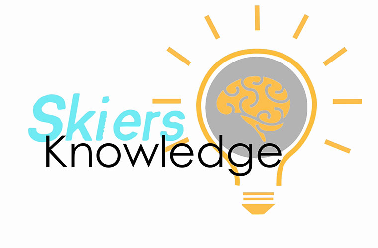 skiers knowledge logo image of